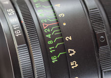 Lens. Close-up. Royalty Free Stock Images