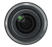 Lens, close-up. Part of the camera. Vector illustration Royalty Free Stock Images
