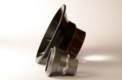 Lens and condenser focus light from the lamp Royalty Free Stock Photography
