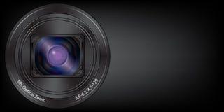 Lens digital camera background  Stock Photos