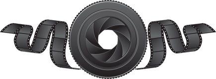 Lens en film vector illustratie