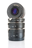 Lens with extension tubes Stock Image