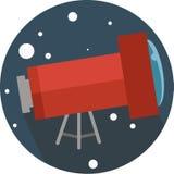 Lens förstoring, planetarium, förstorar, spionerar, observerar, exponeringsglas, apparaten som är optisk, instrumentet, utrymme,  vektor illustrationer