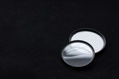 Lens filter with a broken glass. camera lens Stock Photography