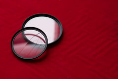 Lens filter with a broken glass. camera lens Royalty Free Stock Image