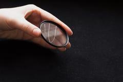 Lens filter med ett brutet exponeringsglas vektor för regnbåge för lins för illustration för kameraeffekt eps10 Arkivbild