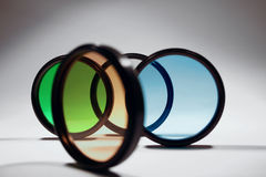 Lens filters  Royalty Free Stock Image