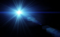Lens flare. High quality computer generated lens flare Royalty Free Stock Photo