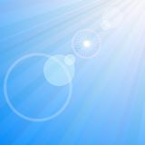Lens flare. Royalty Free Stock Photo