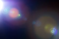 Lens flare. Actual lens flare, optical effect made in camera Royalty Free Stock Photo