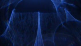 Lens flare blue abstract glow blur light effect. Defocused lens flare. Blue abstract glow. Blur soft illuminated light on dark background stock video