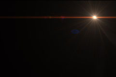 Lens flare effect. In  space made with ae cs5 Stock Photos
