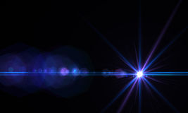 Lens flare effect. In  space made with ae cs5 Stock Photo