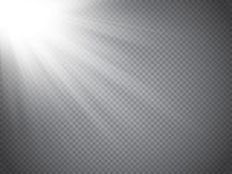 Lens flare light effect. Sun rays with beams isolated. Vector. Lens flare light effect. Sun rays with beams isolated on transparent background. Vector Stock Photography