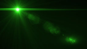 Lens Flare light over Black Background. Easy to add overlay. Or screen filter over photo Royalty Free Stock Photography