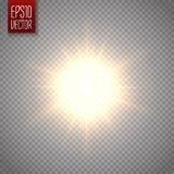 Lens flare vector illustration. Sun  on transparent background. Stock Photography