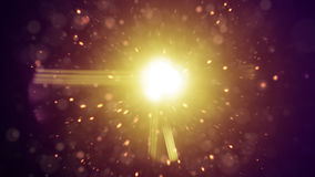 Lens flares and flying particles Royalty Free Stock Images