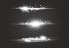 Lens flares and lighting effects on transparent background. Vector illustration vector illustration