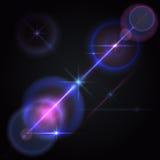 Lens flares star lights, glow Stock Photos