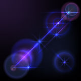 Lens flares star lights, glow. Abstract image of  lens flares star lights and glow. Resizable vector illustration Royalty Free Stock Image