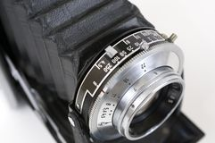 Lens of folding camera Royalty Free Stock Image