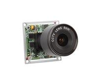 Lens för säkerhetsvideokameror Arkivbilder