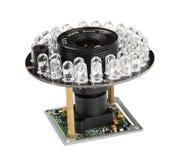 Lens för säkerhetsvideokameror Arkivfoto