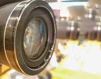 Lens glass camera digital professional. Background royalty free stock image