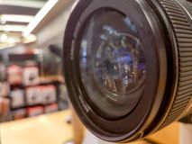 Lens glass camera digital professional. Background royalty free stock photography