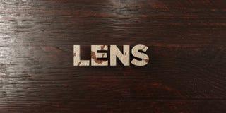 Lens - grungy trärubrik på lönn - 3D framförd fri materielbild för royalty royaltyfri illustrationer