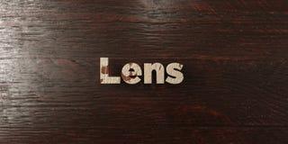 Lens - grungy trärubrik på lönn - 3D framförd fri materielbild för royalty vektor illustrationer