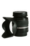 Lens and hood Stock Photo