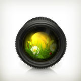 Lens, icon Royalty Free Stock Photos