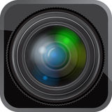 Lens icon Royalty Free Stock Photo