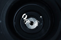 Lens inside.  Royalty Free Stock Image