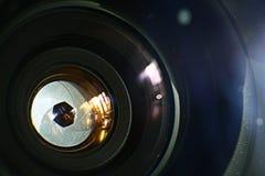 Lens inside mechanics photo camera Stock Image