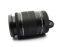 Lens. An isolated DSLR lens on white background Stock Images