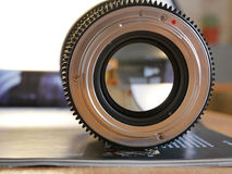 Lens on the journal. View from the bayonet Stock Image