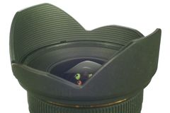 Lens and lens hood marco Royalty Free Stock Photography
