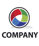 Lens logo Royalty Free Stock Photography