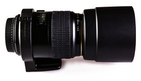 Lens macro with collar and hood Royalty Free Stock Photography