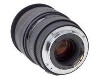 Lens of modern digital camera, rear view of lens Stock Photos