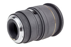 Lens of modern digital camera, rear view of lens Royalty Free Stock Photos