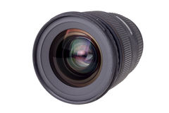 Lens of modern digital camera, view of front lens Stock Photography