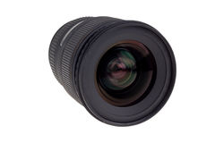 Lens of modern digital camera, view of front lens Stock Images