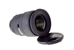 Lens of modern digital camera, view of front lens Stock Image