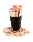 Lens and money Stock Photos