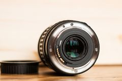The lens mount. Close-up of a digital camera lens mount Stock Images