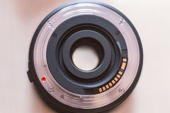 Lens. The lens mount from SLR camera Royalty Free Stock Photos