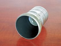 Lens from an old slide projector royalty free stock photography